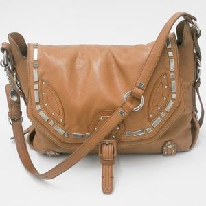 Sonia Rykiel Shoulder Bag Purse Rust Tan Leather